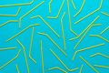 Top View Of Cocktail Straws On Turquoise Blue Background - PhotoDune Item for Sale