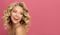 Blonde Woman With Curly Beautiful Hair - PhotoDune Item for Sale