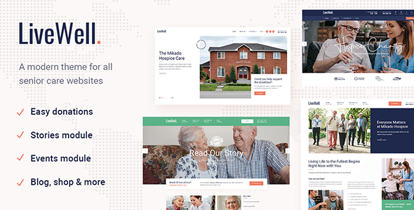 LiveWell - Senior Care Theme