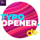 Dynamic Typography Opener Essential Graphics