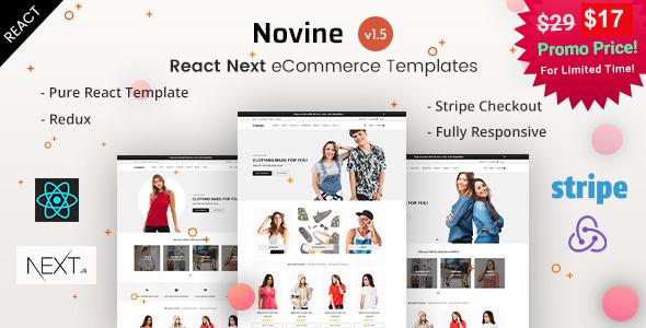 Novine - React Next eCommerce Templates