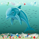 Environment Pollution Illustration and Dolphin - GraphicRiver Item for Sale