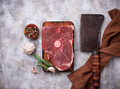 Lamb meat with rosemary, spices and cleaver. - PhotoDune Item for Sale