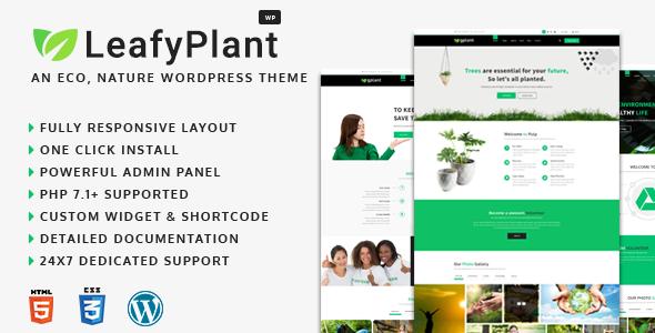 LeafyPlant - Multipurpose Environmental WordPress Theme