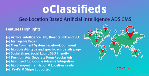 oClassifieds - PHP and Laravel Geo Classified ads cms Download
