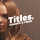 Smooth Clean Titles   Premiere Pro - VideoHive Item for Sale