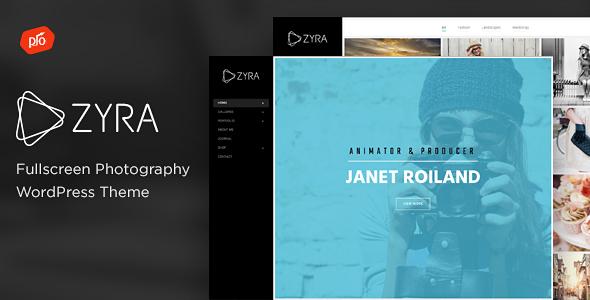 Zyra - Fullscreen Photography Theme