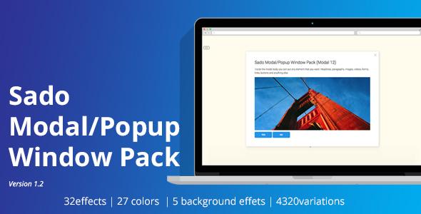 Sado Modal / Pop up Window Pack Download