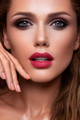 Portrait of beautiful girl with pink lips - PhotoDune Item for Sale