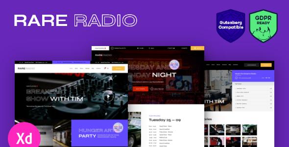 Rare Radio | Online Music Radio Station & Podcast WordPress Theme