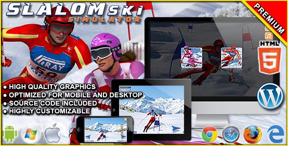 Slalom Ski Simulator - HTML5 Sport Game Download