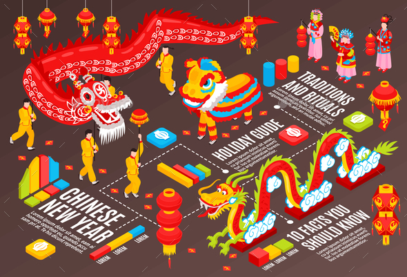 Chinese New Year Infographics Background