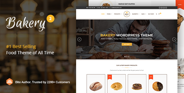 Bakery | WordPress Cake & Food Theme