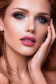 Make up. Glamour portrait of beautiful woman model with fresh makeup and romantic wavy hairstyle - PhotoDune Item for Sale