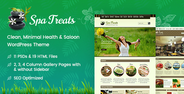 Spa Treats - Health and Wellness WordPress Download
