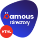 Qamous - Directory Listing Template - ThemeForest Item for Sale