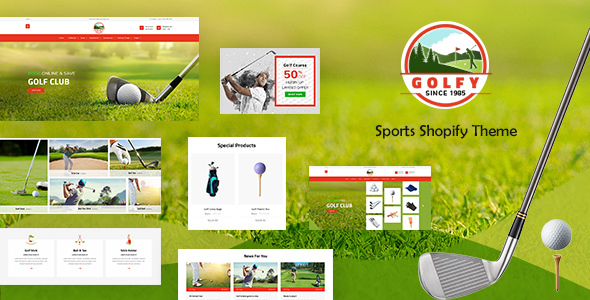 Golf - Sports Store, Game Shopify Theme