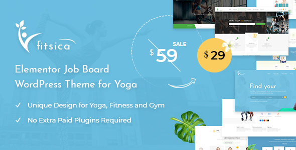 Fitsica - Yoga Jobboard WordPress Theme