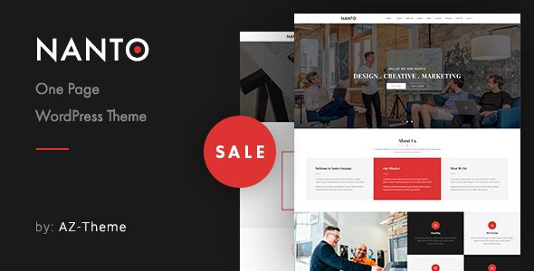 Nanto - OnePage Parallax WordPress Theme 2