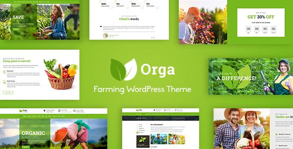 Orga - Organic Farm, Agriculture WordPress Theme