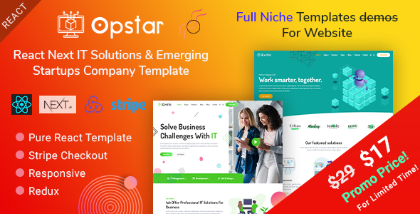 Opstar - React Next IT Solutions & Emerging Startups Company Template
