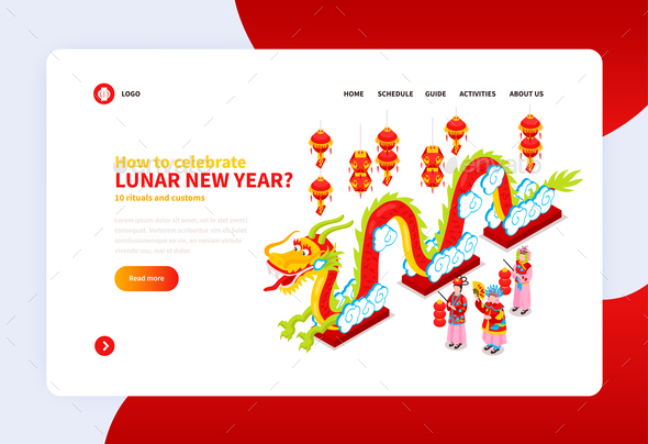 Chinese New Year Landing Page