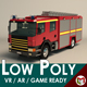 Low Poly Fire Truck 02 - 3DOcean Item for Sale