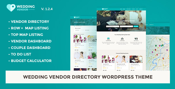 Wedding Vendor Directory & Listing WordPress Theme