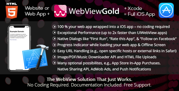 WebViewGold for iOS,WebView URL/HTML to iOS app + Push, URL Handling, WebViewGold for iOS – WebView URL/HTML to iOS app + Push URL Handling APIs & much more!, WebViewGold for iOS free download, WebViewGold for iOS nulled pro