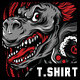 Rage of T-Rex T-Shirt Design - GraphicRiver Item for Sale