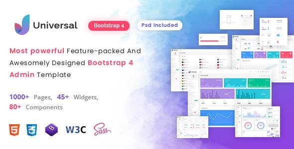 Universal - Multipurpose Bootstrap Admin Dashboard Template