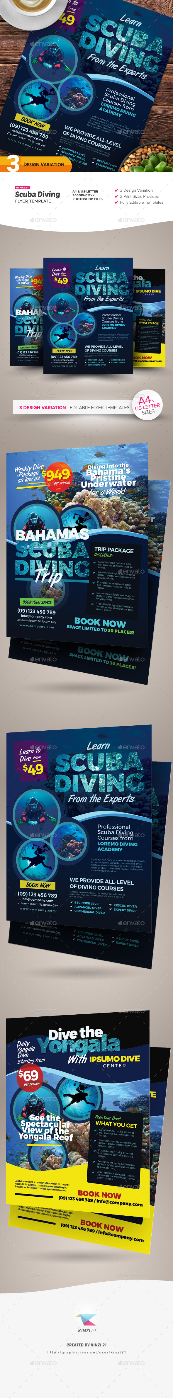 Scuba Graphics Designs & Templates from GraphicRiver