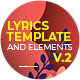 Lyrics Template and Elements V.2 - Paper Cut Concepts - VideoHive Item for Sale