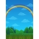 Landscape Rainbow and Forest - GraphicRiver Item for Sale