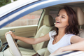 Young Happy Smiling Woman Driving Car - PhotoDune Item for Sale