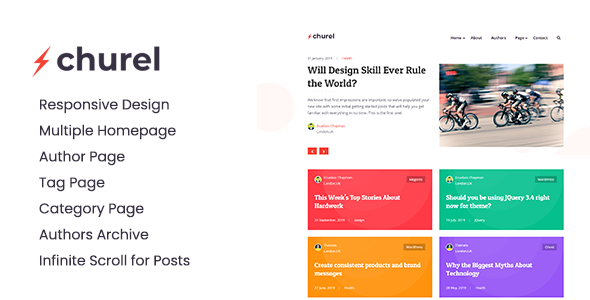 Churel - Modern and Powerful Jekyll Blog Theme