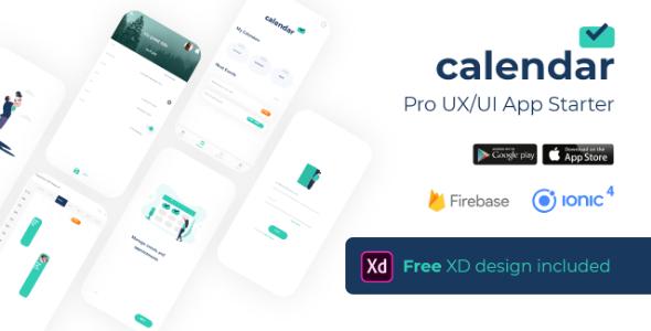 Calendar Firebase Starter Pro