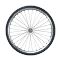 Bicycle wheel isolated on white background. Side view. 3d rendering. - PhotoDune Item for Sale