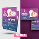 Breast Cancer Awareness Flyer with Postcard Bundle - GraphicRiver Item for Sale