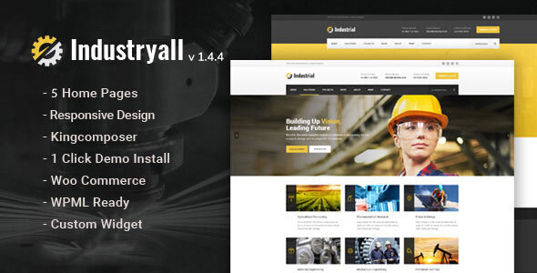 Industryall - Industrial WordPress Theme