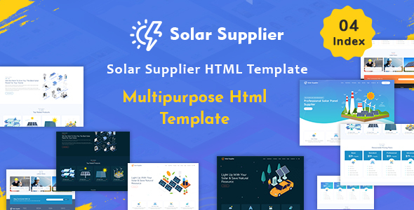 Solar Supplier - Responsive HTML Template