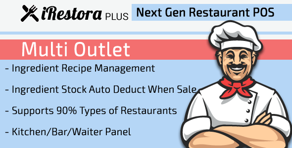 iRestora PLUS Multi Outlet - Next Gen Restaurant POS Download
