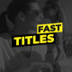 Simple Fast Titles - VideoHive Item for Sale