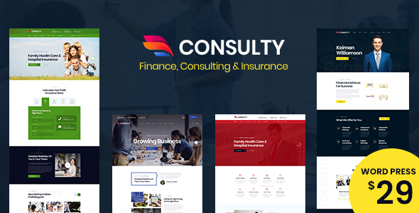 Consulty - Business Finance WordPress Theme