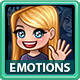 Emotion Female Icons with Long Hair Pack - GraphicRiver Item for Sale