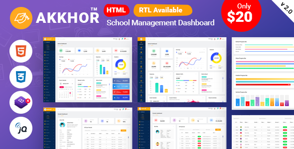 Akkhor - School Management Admin Template