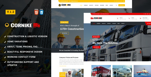 Cornike | Construction Company HTML Template