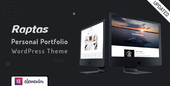 Raptas - Personal Portfolio WordPress Theme
