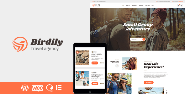 Birdily | Travel Agency & Tour Booking WordPress Theme