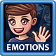 Cartoon Male Emotions Icons pack - GraphicRiver Item for Sale